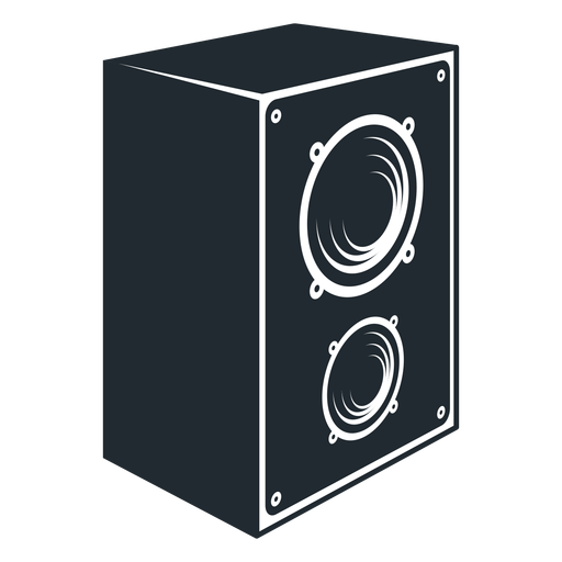 Black and white speaker icon Transparent PNG
