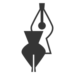 Black and white fountain pen tip icon