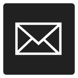 Black envelope square icon