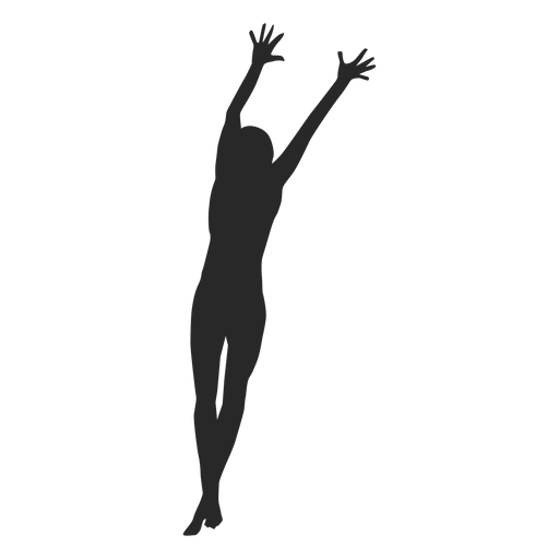 Blocking volleyball silhouette Transparent PNG