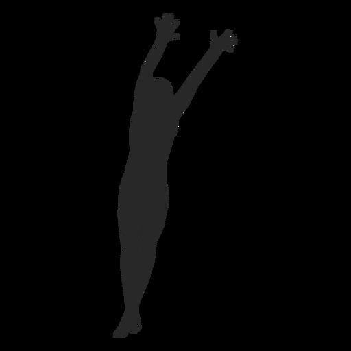 Silhueta de voleibol de bloqueio Transparent PNG