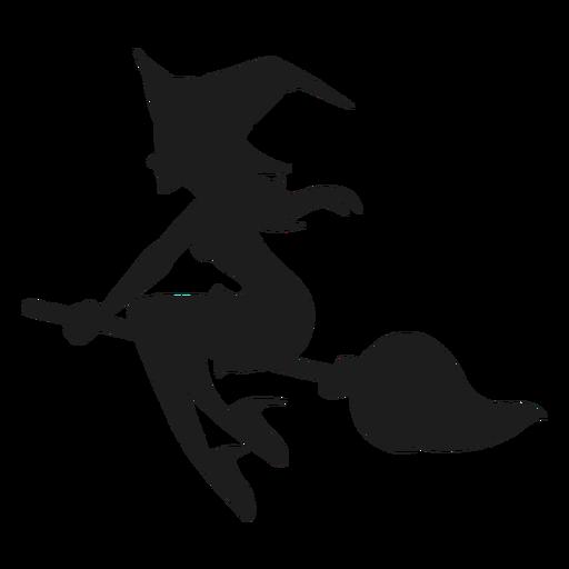 Vassoura, montando, bruxa, silueta Transparent PNG