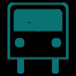 Icono de estilo de línea de autobús