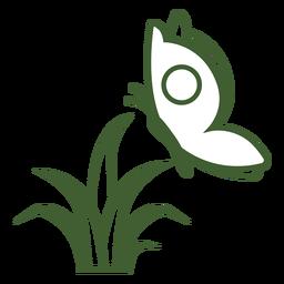 Schmetterling im Flugsymbol
