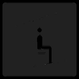 Ícone quadrado de teleférico