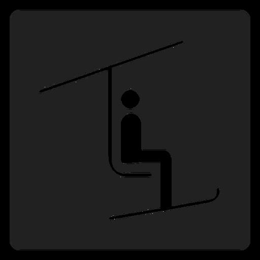 Ícone quadrado de teleférico Transparent PNG