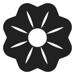 Calico bush flower icon
