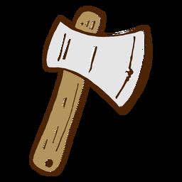 Icono de hacha de camping