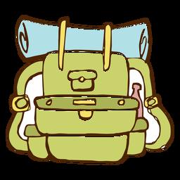 Icono de mochila de camping