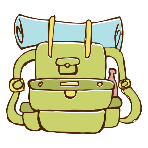 Ícone de mochila de acampamento Transparent PNG