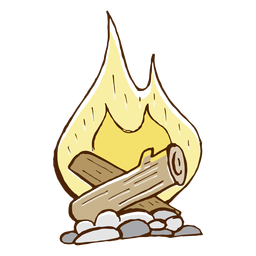 Camping bonfire icon