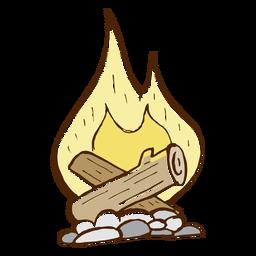 Ícone de fogueira de acampamento