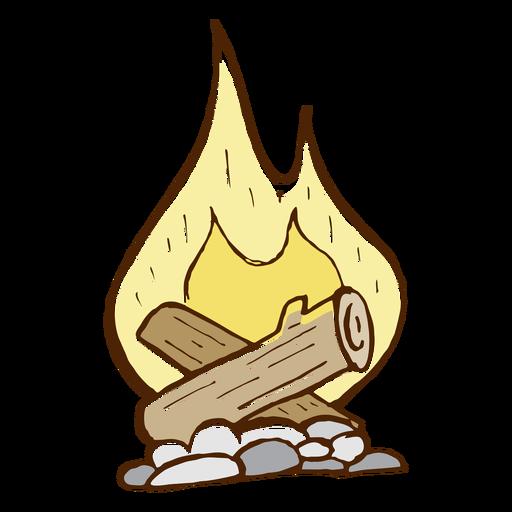 Camping bonfire icon Transparent PNG