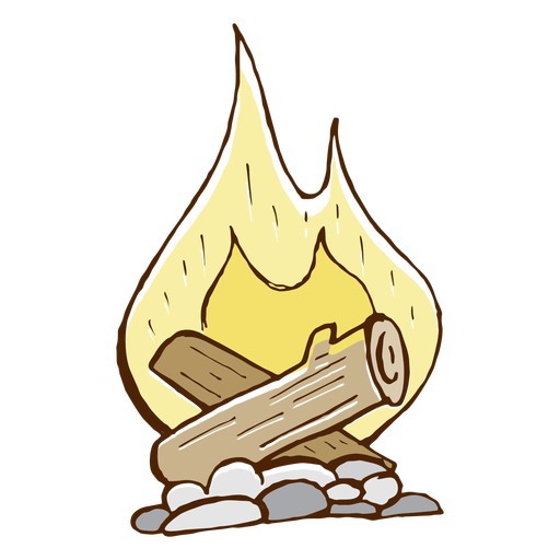 Camping bonfire icon