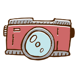 Icono de camara de camping