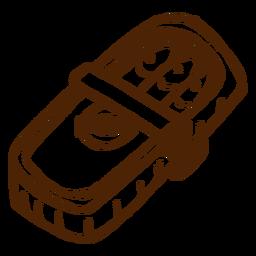 Camping sardinas enlatadas icono dibujado a mano