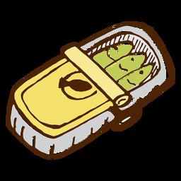 Camping sardinhas em conserva ícone