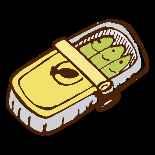 Icono de sardinas en lata de camping. Transparent PNG