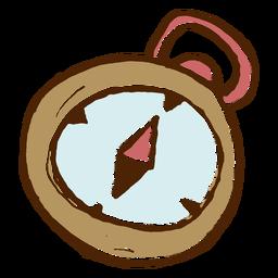 Icono de brújula de camping