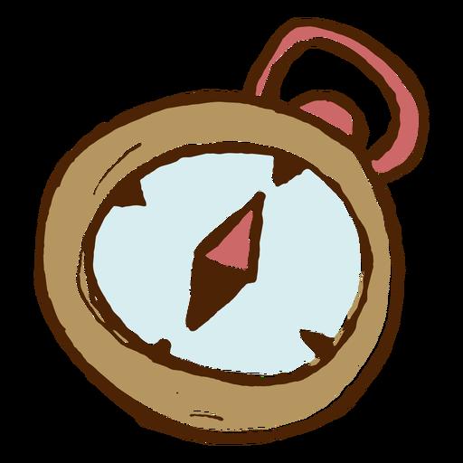 Icono de brújula de camping Transparent PNG