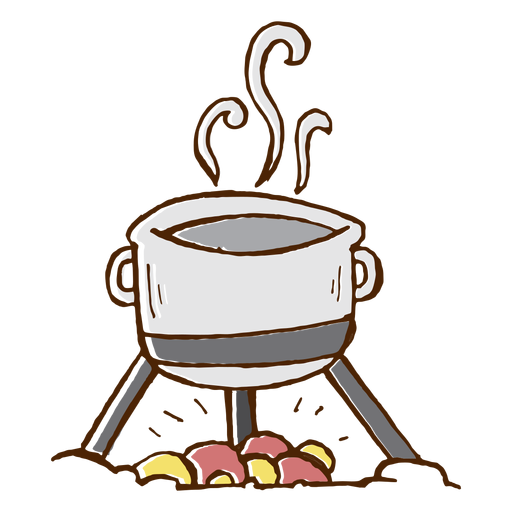 Camping cooking pot icon Transparent PNG