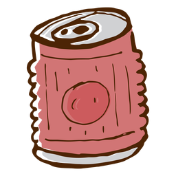 Camping drink can icon