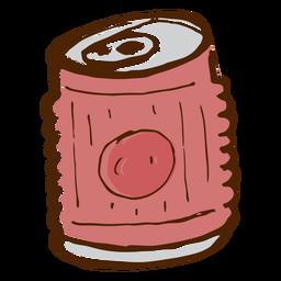Icono de lata de bebida de camping