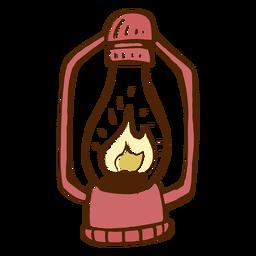 Icono de lámpara de camping