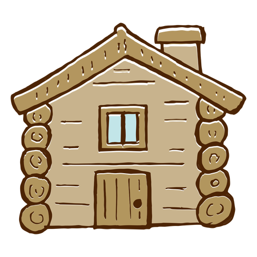 Camping log cabin icon Transparent PNG