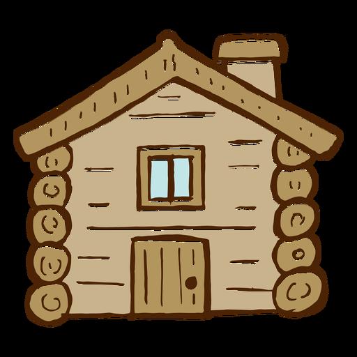 Icono de cabaña de troncos que acampa Transparent PNG