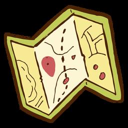 Camping-Kartensymbol