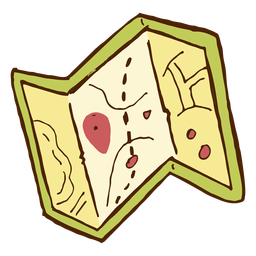 Icono de mapa de camping
