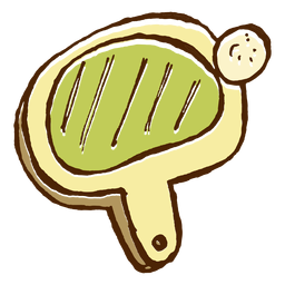 Camping pingpong racket icon
