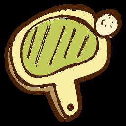 Icono de raqueta de ping-pong de camping