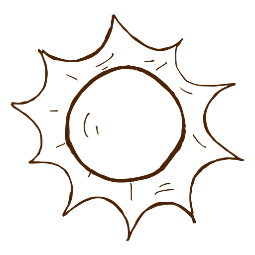 Camping sun hand drawn icon Transparent PNG