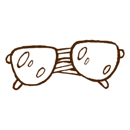 Camping sunglasses hand drawn icon