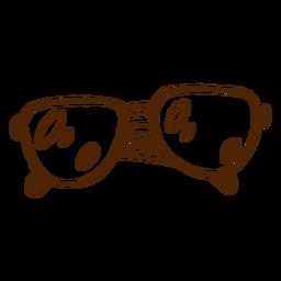 Icono dibujado mano de gafas de sol de camping
