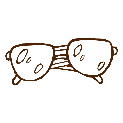 Icono dibujado mano gafas de sol camping Transparent PNG