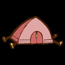 Icono de la tienda de campaña
