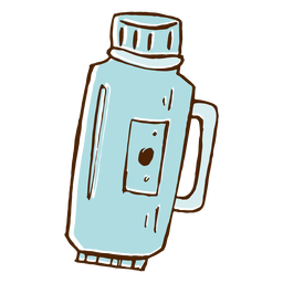 Camping thermos icon