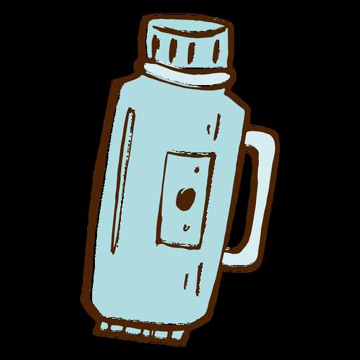 Icono de termo de camping Transparent PNG