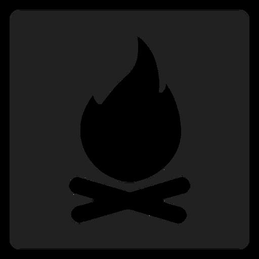 Icono de la hoguera de la plaza Transparent PNG