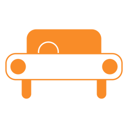 Icono de estilo de línea de coche