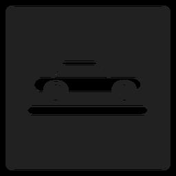 Ícone quadrado do veículo carro