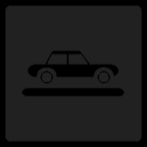 Auto Fahrzeug Quadrat Symbol Transparent PNG