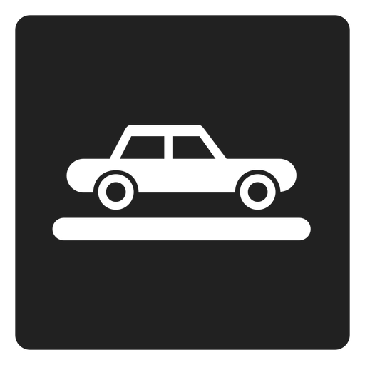 Car vehicle square icon Transparent PNG
