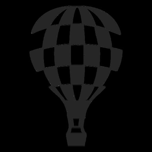 Silhueta quadriculada de balão de ar quente Transparent PNG