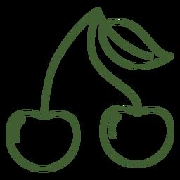 Icono de fruta de cereza