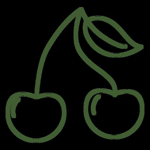 Ícone de frutas cereja Transparent PNG