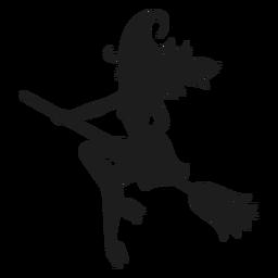 Silueta clásica de bruja de halloween